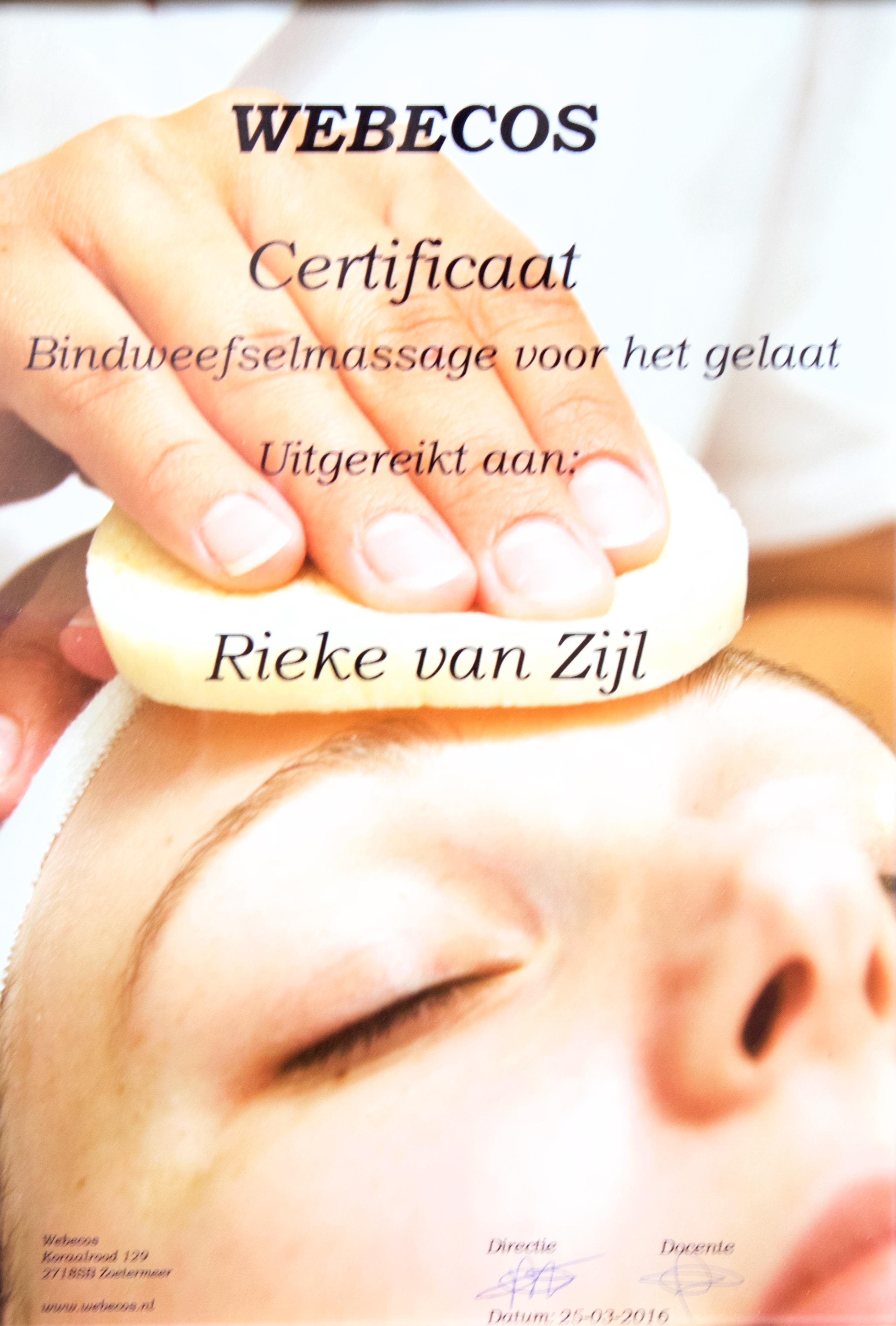 certificaat bindweefselmassage